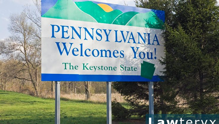 """Welcome to Pennsylvania"" interstate sign"