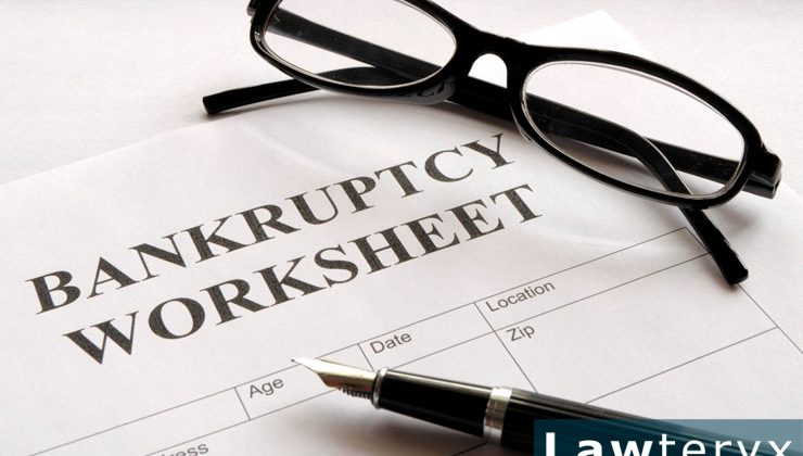 close-up image of bankruptcy worksheet